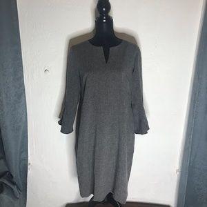 Ann Taylor gray dress 14 petite